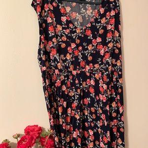 Torrid navy floral mini dress, size 4